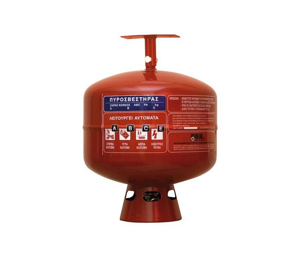 Dry Powder Automatic Roof Fire extinguisher, 12kg   Fire Defender